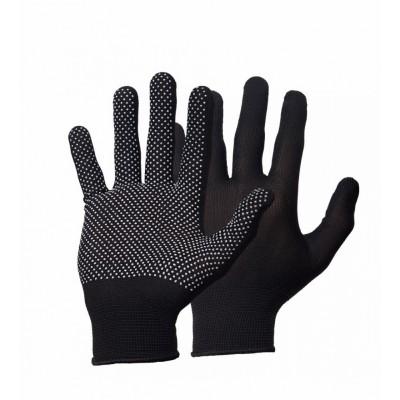 Перчатки нейлоновые  с точечным ПВХ покрытием