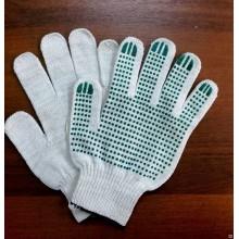 Перчатки 5нитка/10кл, ХБ с ПВХ ТОЧКА (уп-10/400пар)