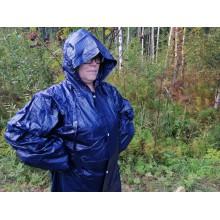 Плащ дождевик усиленный, ПВХ/полиэстр  (300 микрон)