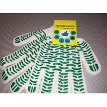 Перчатки 5нитка/10кл, ХБ с ПВХ ВОЛНА (на подвесе) уп-10/250пар