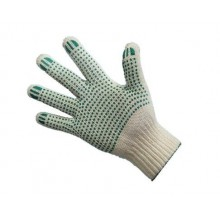 Перчатки 4нитка/10кл, ХБ с ПВХ ТОЧКА (уп-10/500пар)